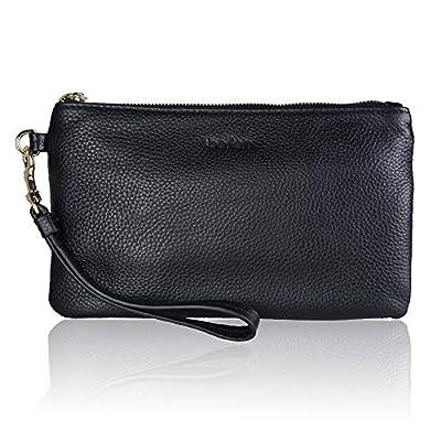 Befen Women's Leather Clutch Wristlet Wallet, Wristlet Phone Purse with Card Slots - Fit iPhone 8 Plus
