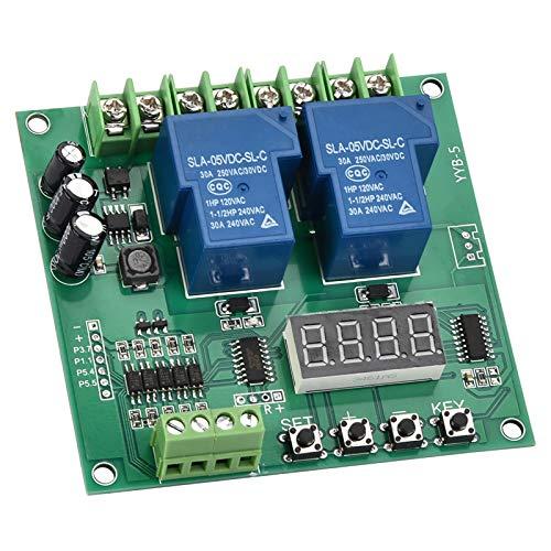 Placa controladora de accionamiento de motor DC/AC 7 V-27 V, placa de control de avance/retroceso del motor, módulo de ciclo de temporización de retardo de relé para proyectos eléctricos Arduino