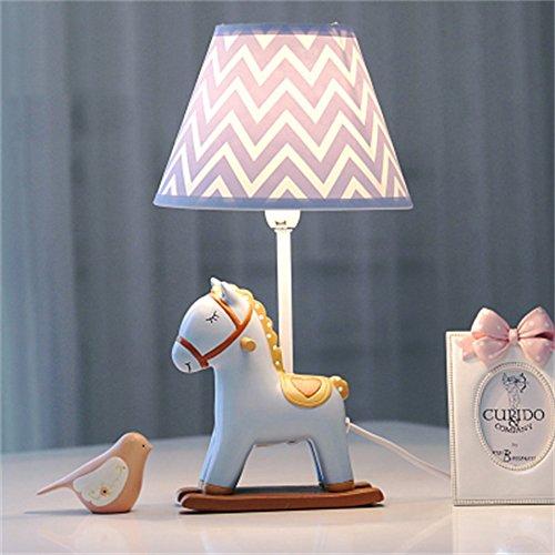SMC Tischlampe Pony Einstellbare LED Schreibtischlampe Schlafzimmer Nachttischlampen Warm Beleuchtung Kreative Kinderzimmer Schreibtischlampe Nettes Geburtstagsgeschenk (Color : B)