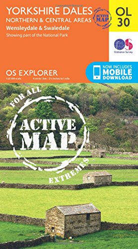 Price comparison product image OS Explorer ACTIVE OL30 Yorkshire Dales - Northern & Central areas (OS Explorer Map Active)