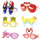 Luau Party Sunglasses,6 Pairs Hawaiian Funny Glasses...