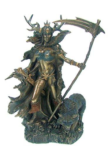 Hel nordische Göttin der Unterwelt mit Sichel Sammelfigur Figur Freya Tyr