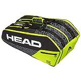 HEAD Unisex-Erwachsene Core 9R Supercombi Tennistasche, Black/neon Yellow, Einheitsgröße