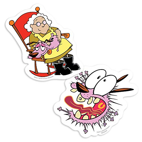 Popfunk Courage The Cowardly Dog and Murial Collectible Stickers