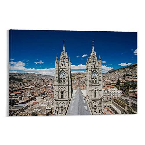LKJIU Quito Ecuador - Cuadro decorativo en lienzo para pared de salón, póster para dormitorio, 60 x 90 cm