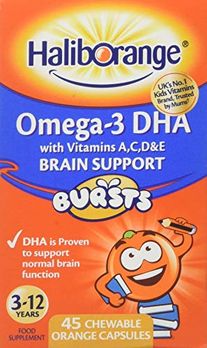 Haliborange Kids Omega-3 Chewy Orange tablets 45 5012335140707