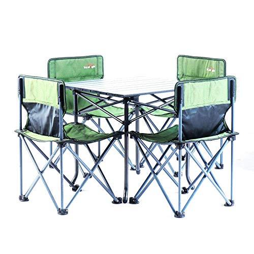 'N/A' Juego de mesa y silla plegables para exteriores y mesa de picnic y silla de ocio, mesa plegable y silla de camping, mesa y silla