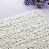 STRIR PE de espuma de 3D Wallpaper DIY pared pegatinas Decoración de pared en relieve piedra de ladrillo 60_x_30_cm (A)