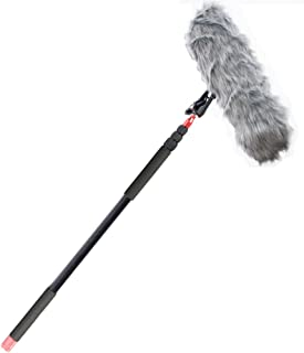 Nicama 11.5 ft Professional Handheld Boom pole for Shotgun Microphones,Lightweight, Easy Twist Locks,Padded Handle