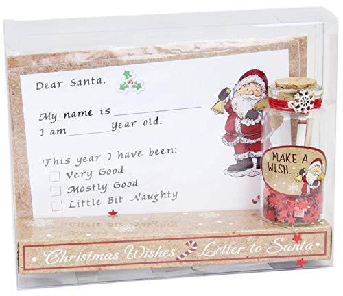 Balloon Shop Christmas Letter To Santa e Make A Wish Jar Set Regalo