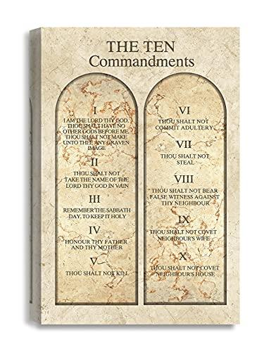 decorarts–Canvas Prints Pared Arte–Giclee Impresión sobre lona para pared decoración. 61x 40,6x 3,8cm, Art Deco, 31. The Ten Commandments, 1