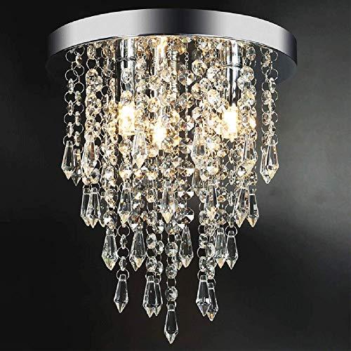 Lampadario in cristallo, moderno lampadario a sfera di cristallo, lampada da soffitto a incasso, diametro 25,4 cm, per corridoio, camera da letto, soggiorno, cucina, sala da pranzo