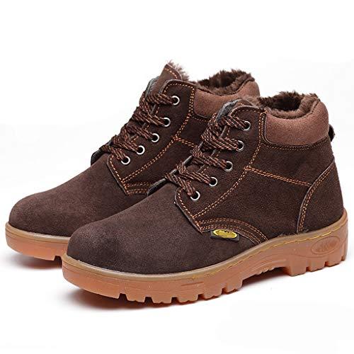Zapatos de seguridad Botas de seguridad de soldadura de soldadura altas para hombres - cuero de gamuza - tapa de punta de acero y medianos de acero - resistente al desgaste de la suela de tendón de ca