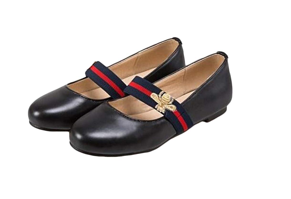 アブストラクトマインドバッフル[ジャング] 女子 パンプス フラット 革靴 レディース 通学 歩きやすい ローヒール ストラップシューズ 美脚