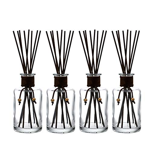Whole Housewares 7.5 Ounce Glass Diffuser Bottles with 32 pcs