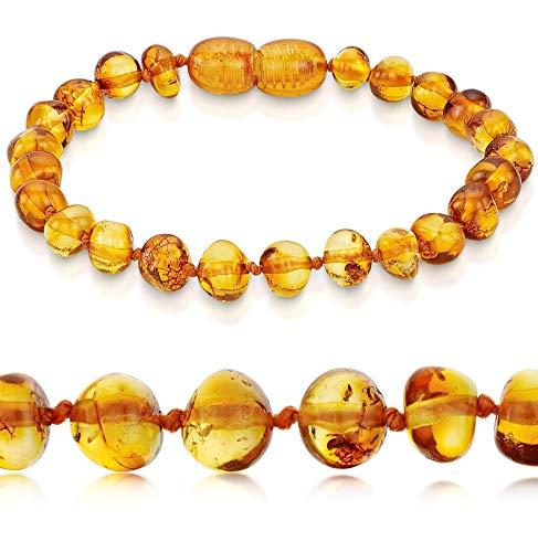 Premium 100% Genuine Baltic Amber Anklet Bracelet Honey Sizes 13cm 14cm 15cm 16cm 17cm 18cm 19cm 20cm 21cm 22cm (14 cm / 5.5 inch)