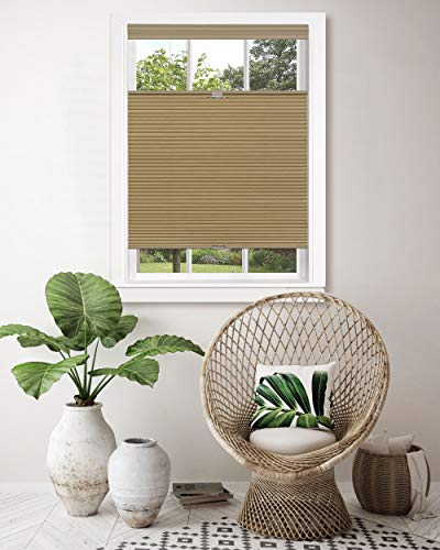 Achim Home Furnishings, Wheat Top Down-Bottom Up Cordless Honeycomb Cellular Shade, 23