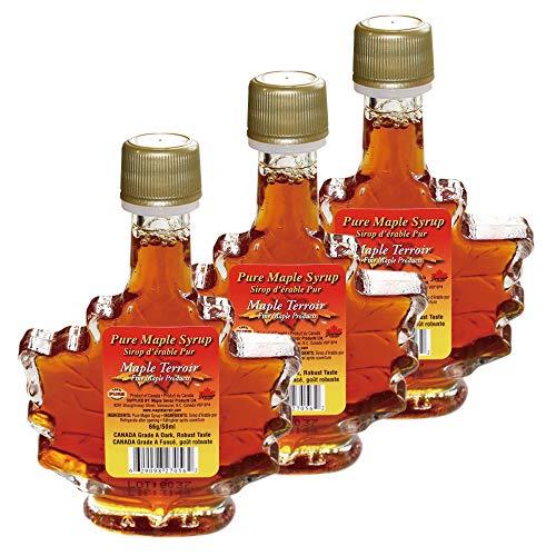 [在庫処分][訳あり] カナダお土産 | ピュアメープルシロップ カエデボトル入り 3瓶セット【202074】
