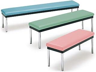 コンパクトベンチ ロビーチェア ベンチチェア スリム 長椅子 待合椅子 休憩室 スポーツジム ロッカールーム 幅90cm MC-900S-NG (グリーン)