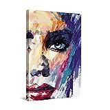Startonight Cuadro Moderno en Lienzo - Cara de una Mujer - Pintura Abstracta para Salon Decoración 60 x 90 cm