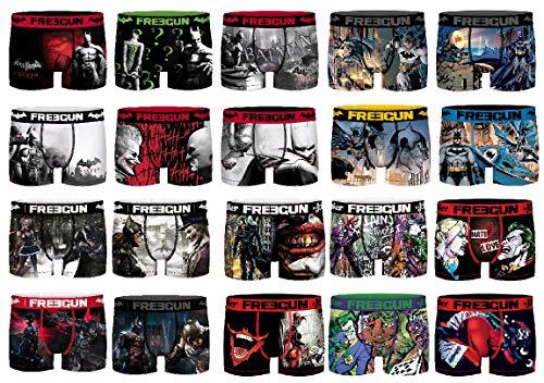 Ozabi Boxershorts Surprise Freegun aus Mikrofaser, verschiedene Modelle für Fotos je nach Verfügbarkeit, mehrfarbig, 4 Stück Gr. S, Pack DC Comics