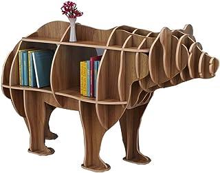 FGDSA Cute Animal LP Storage Rack, CD DVD Game Tape Display Stand - Accesorios De Decoración De Escaparates De La Tienda D...
