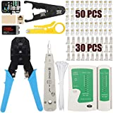 JIGUOOR RJ45 Crimping Tool Kit, Network Cable...