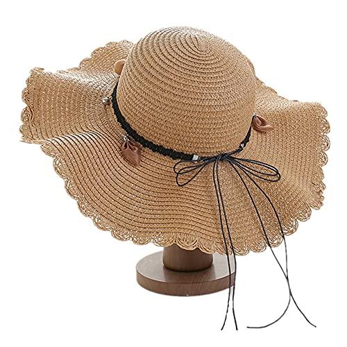 Sombrero de Santa Unisex Santa Sombrero de sol para mujer Sombrero de verano Vacaciones de verano Cuello de playa Sombrero para las niñas para damas Protección UV plegable Sombrero de verano Fedora Tr