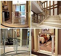 ベビーゲート フェンス ドア付き 階段と廊下の壁には、デュアルロックベビーゲート簡単に調節可能なエキストラ安全な階段子供の安全ドアパンチフリーインストールマウントペットフェンス圧力締結(Hの78センチメートル) (Color : High78cm Width, Size : 121cm~127.9cm)