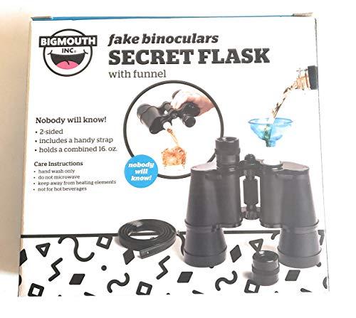 Fake Binoculars Secret Flask (Holds Combined 16oz)