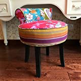 YUXIwang Taburete Creative Pink Cashmere Vestidor Sillas...