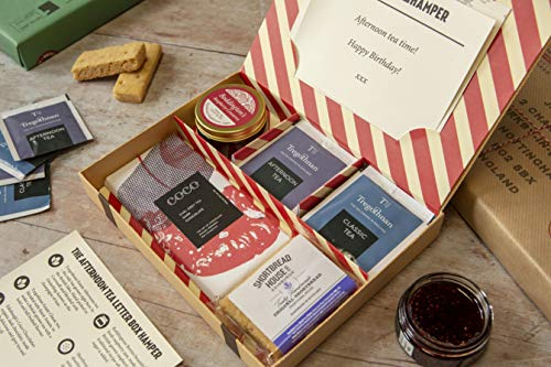 Afternoon Tea Letter Box Hamper - All British Produce - Includes The only Tea Grown in The British Isles - Hassle Free, Simple delivery Through The Letter Box