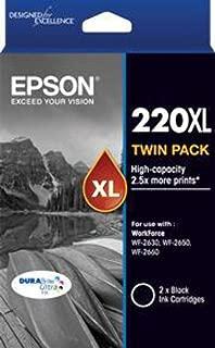 Epson 220XL Twin Pack Black High Yield