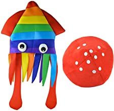 KESYOO 2pcs Halloween Octopus Hat Mushroom Hat Halloween Party Hat Novelty Hat Halloween Cosplay Costume Accessories