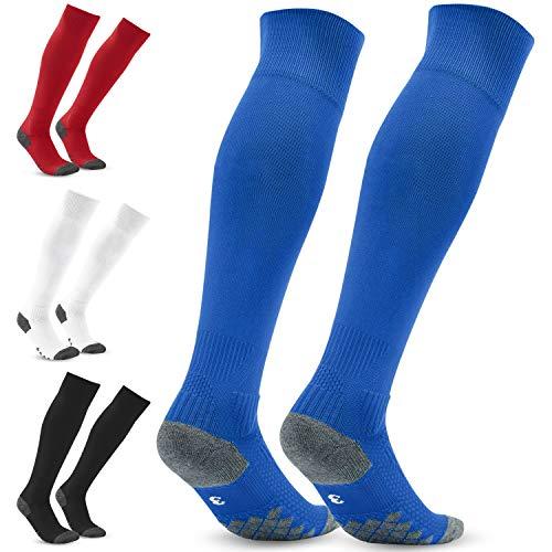 Fußballsocken Herren Stutzen Socken Strümpfe - Fußballstutzen Stutzenstrumpf EU 35-46 – Sportsocken Trainingssocke Sockenstutzen - für Fußball, Laufen, Training (Blau 4)