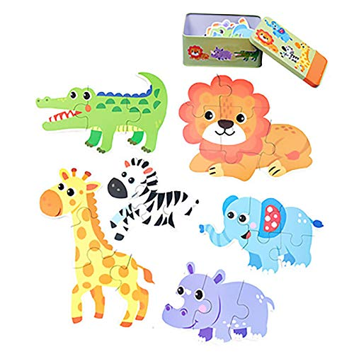 ZFF Rompecabezas 3D Jigsaw   del bebé niños de Madera de Aprendizaje Juguetes educativos Juguetes Animal Kids Dinosaurio de Madera del Coche Rompecabezas Juego Jigsaw Juego Educativo e Interesante