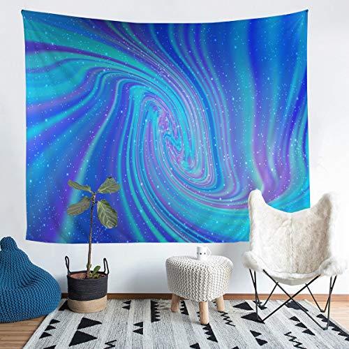 Loussiesd Tapiz para niñas y mujeres, color morado, azul, mármol, estampado de pared, diseño moderno de mármol, manta de pared, decoración psicodélico, manta de cama, 152 x 201
