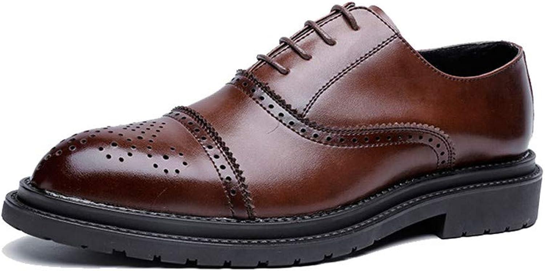 2018 män män män s Oxford skor, herrar Business Oxford skor, Casual Mode Classic Retro Brush Färg Brogue skor  varm