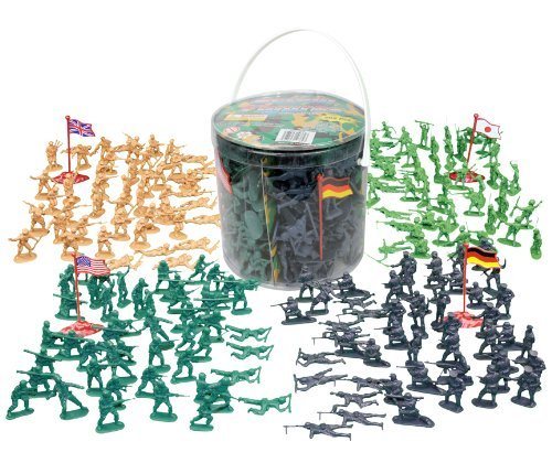 Army Men Action Figures - 202 Pieces with American, British, German & Japanese Soldiers
