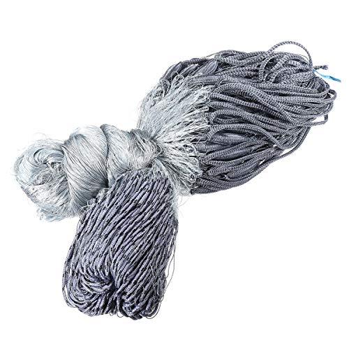 ZIEO Fisch schöpfen 30x1.8m Nylon 4x4cm Ineinander greifen-Loch-Fischen Gill Net Fischer Tackle Trap-Fischen-Werkzeuge Weiß Garnelennetz zum Angeln (Color : White, Size : ONE Size)