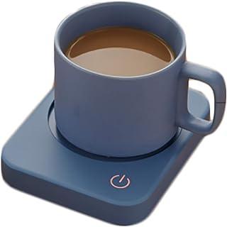 Luemdss Esteras de Tazas calefactoras y Tazas de cerámica Tazas termostáticas Tazas de Tazas termostáticas de Leche Azul Caliente Base Aislante Mini Copa calefactora Base de Vidrio para