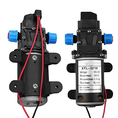 12V DC 100W 8L / Min 160Psi Diafragma de alta presión Bomba de agua autocebante Herramienta de lavado de coches