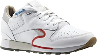 Reebok Classic Leather Urge (White/Cool Grey/RED/Blue) Men's Shoes CN0170
