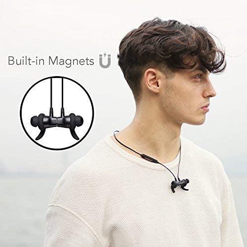 Bluetooth Headphones Super-Comfort Wireless Headphones Magnetic Sport Bluetooth Earbuds Powerful Bass Authentic Sound Noise-Isolation in-Ear Earphones w/Microphone - Arisen Dawn