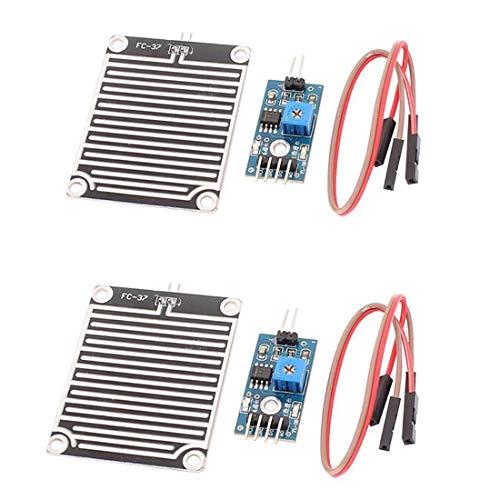 HiLetgo 2 Stück Regenmodul Foliar Sensor Modul Sensitive Wetter Modul für Arduino