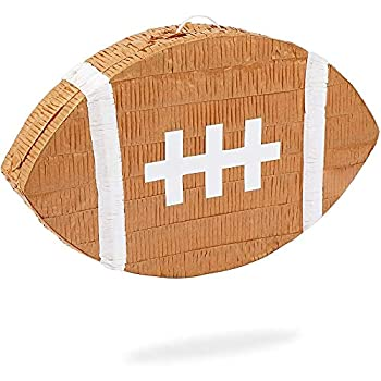 Football Pinata for Sports Birthday Party  16.5 x 10 x 3 In