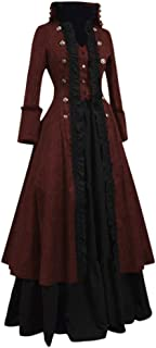 Modaworld Vestiti Medievale Donna Vestito Donna Vintage Abito Lungo Cosplay Partito Costume Vestiti Donna Elegante