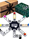 Jaques of London Premium Mexican Train Dominoes - Regulation Size Double 12 Mexican