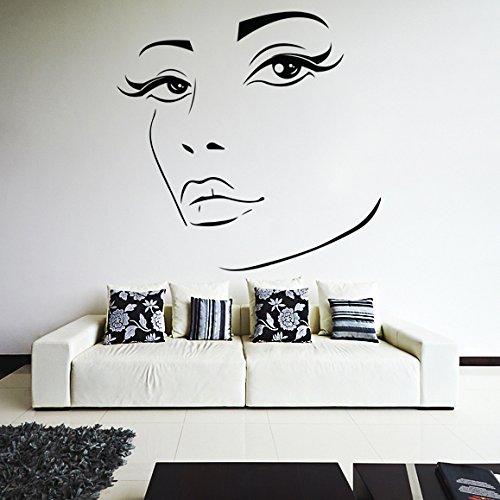 (70 x 69 cm) para mujer Elegante de cara de vinilo adhesivo decorativo para pared de silueta de/para chica Sexy de quita y pon para de Vinilo Art Home / + DIY al azar de tela incluye Regalo de vinilo!