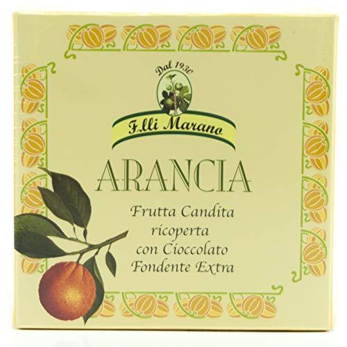 Filetti di Arancia ricoperti di cioccolato puro extra fondente (200gr)